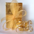 coffee gold gift wrapping
